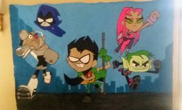 Teen Titans Go Portable Mural in Fort Bliss, Texas