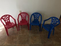 Kids patio chairs (plastic) in 29 Palms, California