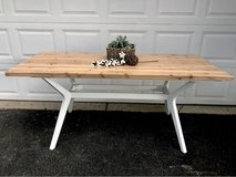 Reclaimed wood dining table in Aurora, Illinois