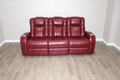 Red Electric sofa recliner!! EXCELLENT CONDITION!! in Kingwood, Texas