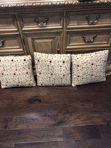 Decorated pillows in Kingwood, Texas