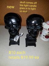 2 tea light skull candle holders in Fairfield, California