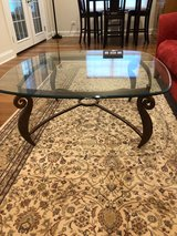 Glass and metal coffee table in Glendale Heights, Illinois