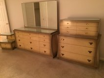 Vintage dressers, night stand with glass cover in Glendale Heights, Illinois