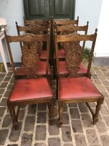 6 french solid wood chairs carvings in Ramstein, Germany