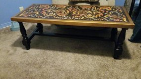 Hand Tooled Leather Coffee table from Peru in Leesville, Louisiana