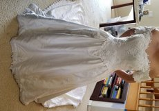 Wedding gown with 6ft train and hand ne bead and lacework in Camp Pendleton, California