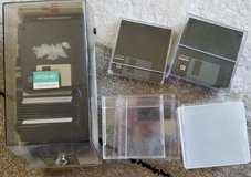 Floppy disc w/cases and case in Okinawa, Japan