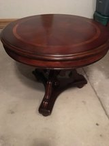 Round cherry end table in Naperville, Illinois