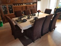 tempered glass dining room table and 8 chairs in Grafenwoehr, GE