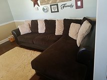 leather base couch, like new in Camp Lejeune, North Carolina