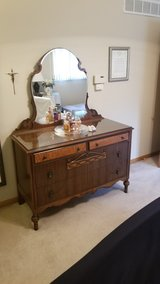 Bedroom Solid Oak/Cherry & Veneer 4 DrwrChest Dresser in Aurora, Illinois