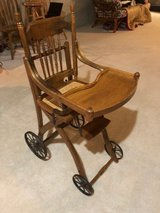 Oak antique high chair in Oswego, Illinois