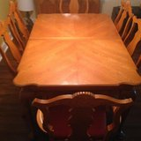 nice oak dining room set with china cabinet in Byron, Georgia