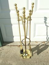 Brass Fireplace Hearth Tool Set in Chicago, Illinois