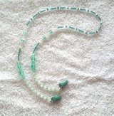 Eye Glass Holder, Cool Green and Frosted Clear Theme Glass Beads, with Grip Clips in 29 Palms, California