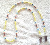 Eye Glass Holder, Southwestern Theme Glass Beads, with Grip Clips in 29 Palms, California