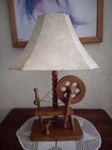 antique wool spinning Wooden lamp in Yucca Valley, California