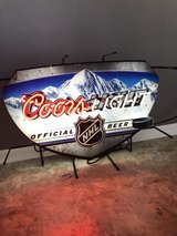Coors Light neon sign in Naperville, Illinois