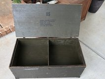 Vintage Wooden Military Foot Locker with Insert in Perry, Georgia