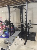 Powertec smith machine w Olympic vtx weights in Morris, Illinois