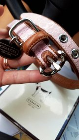COACH discontinued pink leather collar in Camp Pendleton, California