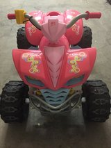 POWER WHEELS KAWASAKI KFX QUAD ATV Battery Operated Ride On Toy Barbie PINK CAR in Fort Knox, Kentucky