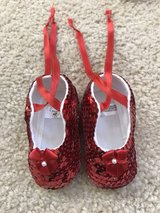 new red sequins baby booties in Chicago, Illinois
