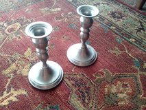 Pair of Pewter Candle Holders in Chicago, Illinois