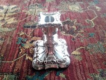 Vintage Silver Plated Polished Candle Holder in Chicago, Illinois
