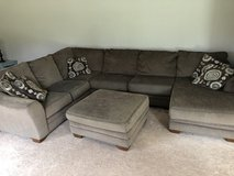 3 Piece Sectional Couch w/ Ottoman in Algonquin, Illinois