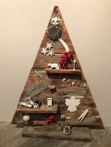 Christmas recycled wood tree in Chicago, Illinois