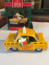 Hallmark S. Claus Taxi Ornament - Dated 1990 in Bolingbrook, Illinois
