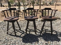 3 Awesome antique bar or saloon stools in Yucca Valley, California