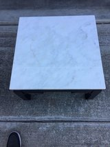 Coffee table with marble top in Travis AFB, California