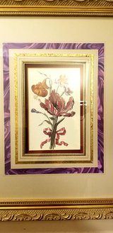 Beautiful Floral Bouquet Set Of Pictures with Frames in Westmont, Illinois
