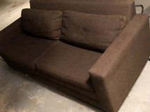 Brown hide-a-bed couch in Elgin, Illinois