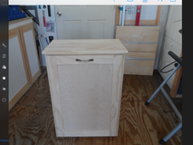 NEW single tip-out wood trash bin in Fairfax, Virginia