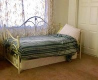 Twin Daybed  Barely used Twin Mattress  and White Iron frame in Yucca Valley, California
