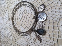 Vintage Bangle Bracelets with Several Charms some Bling Large Stone Interesting in Houston, Texas