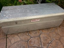 Weatherguard full-size aluminum truck toolbox inside bed in Camp Pendleton, California