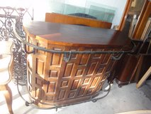 Beautiful solid wood bar, good condition in Ramstein, Germany