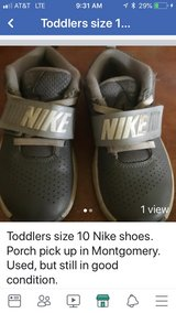 size 10 Nike shoes for toddler. used, by one child, but still lots of life left in Oswego, Illinois