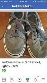 toddler Nike size 11 shoes, very lightly used in Oswego, Illinois