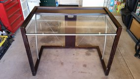 REDUCED -- Wood & Glass Desk in Alamogordo, New Mexico