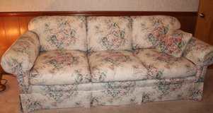 Taylor King couch, floral design in Fort Campbell, Kentucky