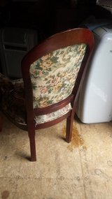 Antique Floral Cherry Wood Chair in Elizabethtown, Kentucky