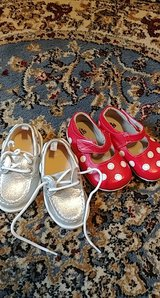 lot of two toddler shoes size 6 boat shoes mary jane flats in Kingwood, Texas