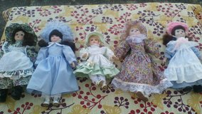 Lot of 5 porcelain dolls in Ramstein, Germany