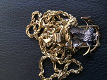14k solid gold chain with 10k gold charm in Quantico, Virginia